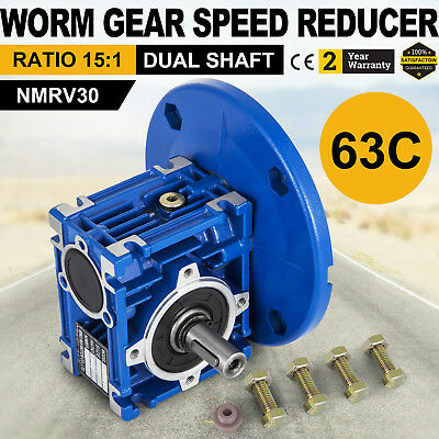 Worm Gear 15:1 63C Speed Reducer Gearbox Dual Output Shaft Active Pro Local