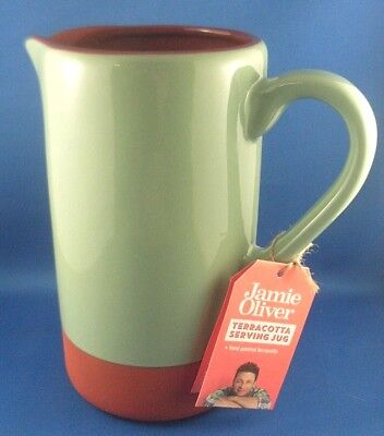 NEW Jamie Oliver 1.5L HAND-PAINTED TERRACOTTA POTTERY SERVING JUG Mediterranean