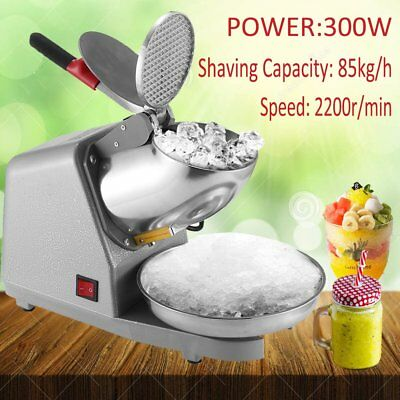 Electric Snow Cone Commercial ice Shaver/Maker/Crusher Home Machine 2200R/min AU