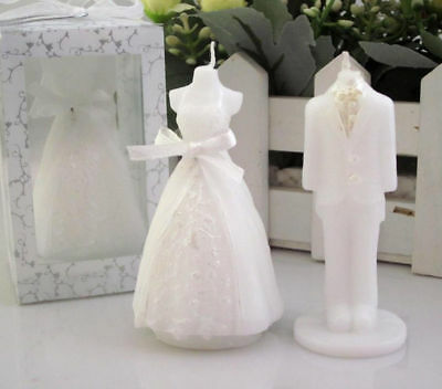 2 Pcs Scented Candles Wedding Boxed Gift Romantic Bridegroom Bride Shape Love