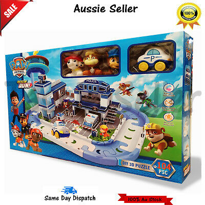 Paw Patrol Everest Rescue Track Set Police Diy 3D Puzzle 104Pcs Boys Gift Xmas