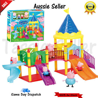 Peppa Pig Playset Playground Slide Park with figures Xmas Toy Children boys girl
