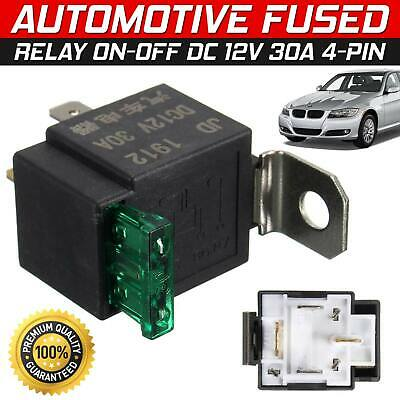 12V Fused On/Off Automotive Fused Relay 30A 4-Pin Normally Open Car Bike