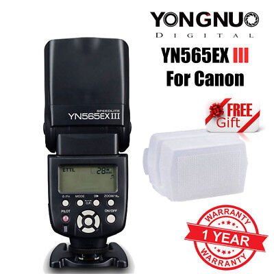 Yongnuo YN-565EX III E-TTL AF Assist Speedlite Flash for Canon + Diffuser UK
