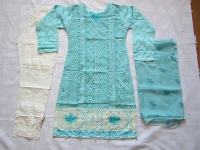 Maria B Chicken Lawn Cotton Suit Blue Embroidered Ready Made 2018