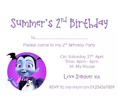 Personalised Roblox Boys Girls Birthday Party Invites Vampirina Invitations  10