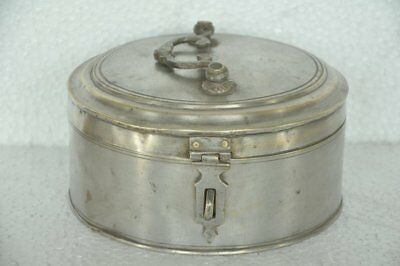 Old Brass Round Round Shape 6 Compartment Handcrafted Betel Nut Box