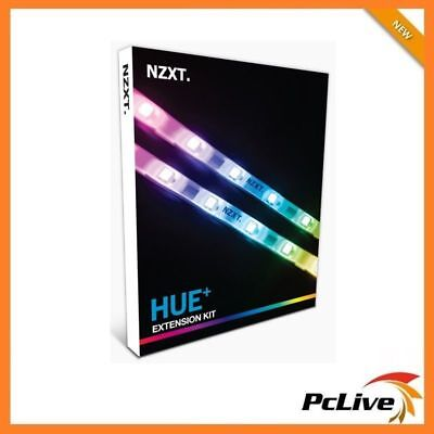 NEW NZXT HUE+ Extension Kit 2x RGB LED Strips Cable Color Changing PC Lighting