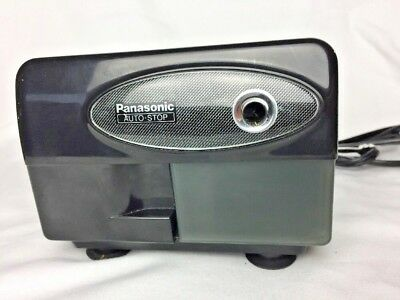 Panasonic Auto Stop Electric Black Pencil Sharpener KP-310