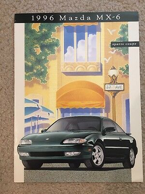 1996 Mazda MX-6 Sports Coupe 15 Page Sales Brochure, Very Good Condition