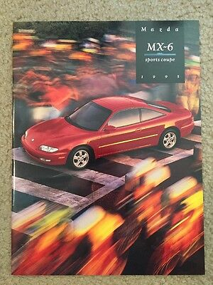 1995 Mazda MX-6 Sports Coupe 19 Page Sales Brochure, Very Good Condition