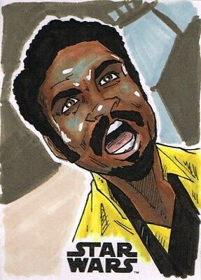 Official Topps SOLO: A Star Wars Story Sketch Card LANDO CALRISSIAN Jason Miller