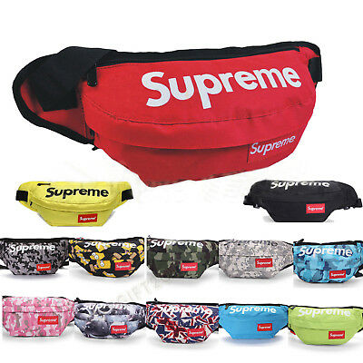 Supreme Waist Bag Fanny Pack Outdoor Sport Pouch Military Camping Hike Crossbody