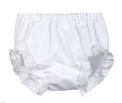 White Diaper Cover Eyelet Bloomer
