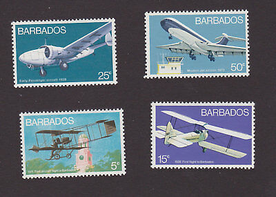 Barbados 384 - 387 VF MNH Airplanes Aircraft Set of 4