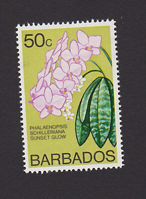 Barbados 407 VF MH Flower