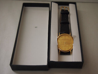 NEW IN BOX GOLDEN NUGGET CASINO LAUGHLIN,NV WRIST WATCH WITH LEATHER BAND vhtf