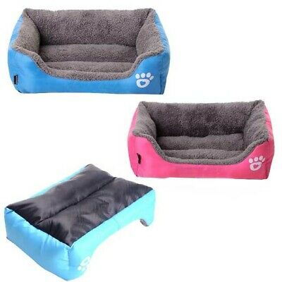Dog Bed Cushion House Soft Cozy Kennel Puppy Medium Small Pet Pad Mat Blanket
