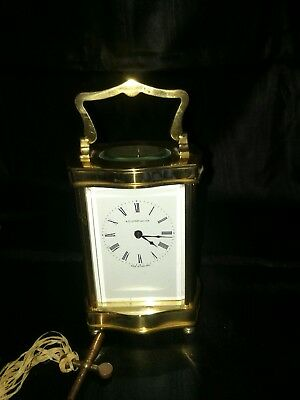 Beautiful Henley Brass Carriage Clock , with key