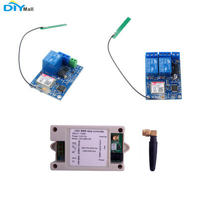1 / 2 Channel Relay Module SIM800C SMS GSM Remote Control Switch 2G Network