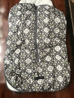 Petunia Pickle Bottom Stroller Bunting Bag  Gray/ Grey Muff Baby