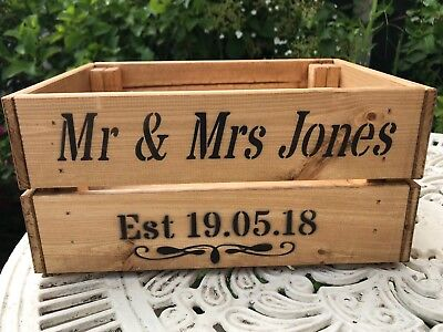 Personalised Vintage Shabby Chic Style Wooden Crate Wedding Card Crate Post Box