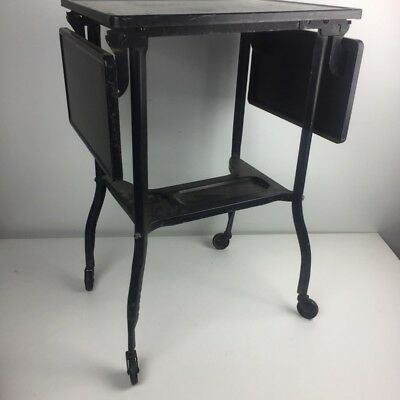 GASTONIA, NC Vintage Typewriter Stand Toledo Guild Drop Leaf Side Table Cart 50s