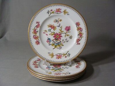 4 Coalport Bone China Salad Plates In The Persian Flower Pattern, England