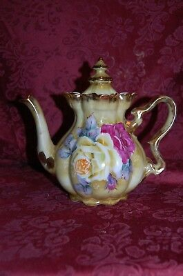 Nippon Reproduction Hand Painted Tea Pot
