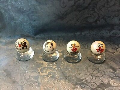 4 Betty Boop Marbles On Stands
