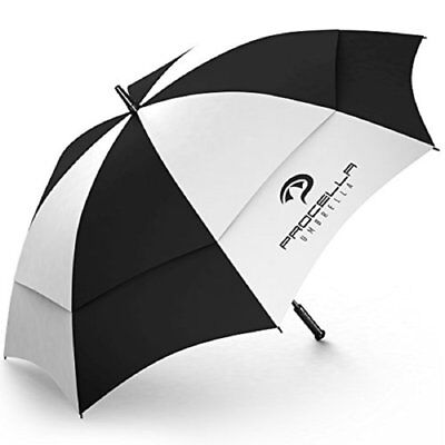62 Inch Extra Large Golf Umbrella Windproof Automatic Long Strong Wind Resistant