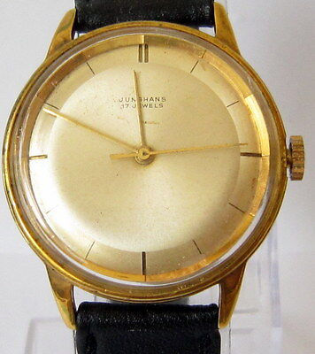 """Vintage Beautiful German""""junghans""""gold Plated Men's Watch,cal.87 Serviced # 251"""