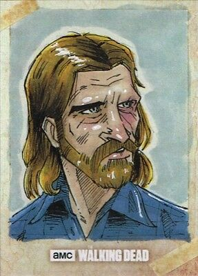 Official Topps AMC Walking Dead Road to Alexandria sketch card DWIGHT