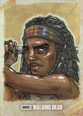 Official Topps AMC Walking Dead Road to Alexandria sketch card MICHONNE