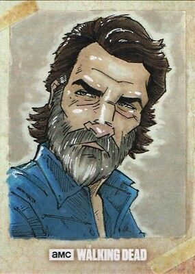 Official Topps AMC Walking Dead Road to Alexandria sketch card RICK GRIMES