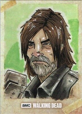 Official Topps AMC Walking Dead Road to Alexandria sketch card DARYL DIXON