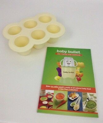 Baby Bullet REPLACEMENT Silicone Easy Pop Batch Tray Freezer Storage w/ Manual 2