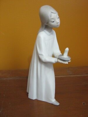 NAO Figurine. Young Girl holding Candle. 8 inches Tall  Made in Spain
