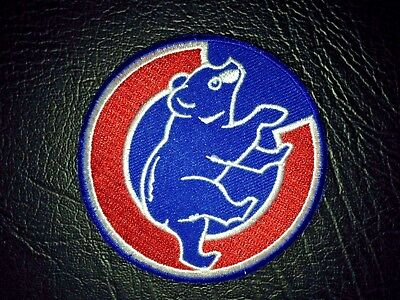 "Chicago Cubs Home Logo Jersey Patch 3"" Wrigley Field Iron On Sew Hoodie Jacket"