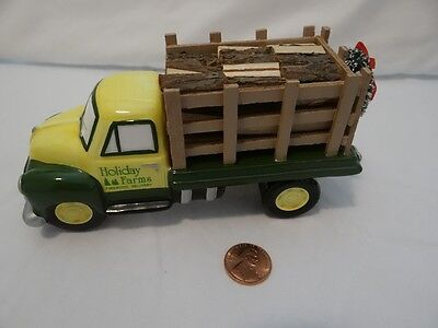 Dept 56 Snow Village Firewood Delivery Truck Figurine Holiday Farms 54864
