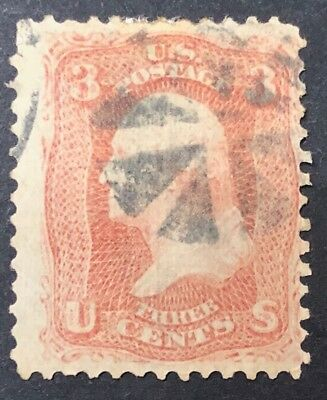 US Stamps Collection Scott #94, 3c, Washington, USED condition