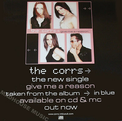 """CORRS POSTER Give Me A Reason Rare UK PROMO POSTER 28"""" x 18"""" MINT"""