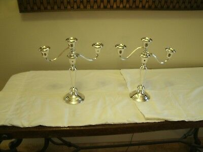 Gorham*808/1* Pair Of Sterling Silver*weighted*4 In 1*candleabras/candle Holders