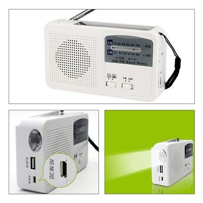 Solar Power Hand Crank Radio with LED Flashlight Emergency Phone Charger Newest
