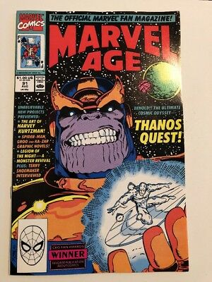 Marvel Age #91 / Thanos Quest Cover / Marvel Comics / Infinity War NM-