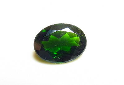 8x6mm RUSSIAN CHROME DIOPSIDE OVAL CUT FACETED LOOSE GEM cut from natural rough
