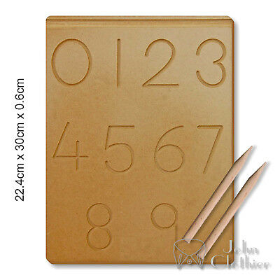 Kids Writing Practice Wooden Board Numbers Tracing 0-9 Preschool Learning Pencil