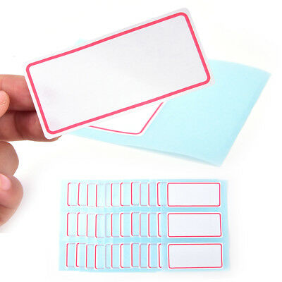 12sheets self adhesive label Blank note label Bar sticky writable name stickers^