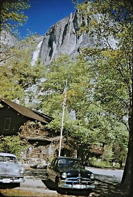 Vintage 35mm Kodachrome Photo Slide Nash Auto Car Old Yosemite Park View