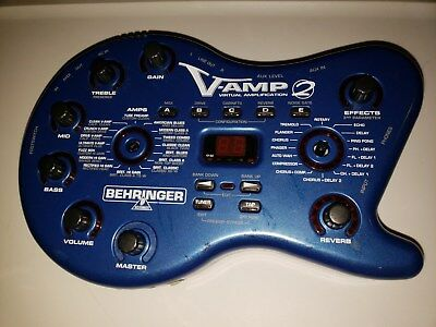 Behringer V-Amp 2 Virtual Amplification Guitar Digital Effects for PARTS/REPAIR